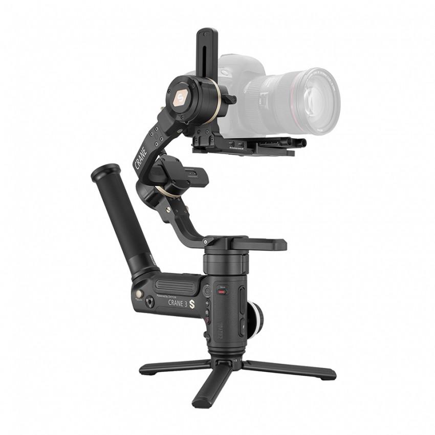 Crane 3S รองรับน้ำหนักกล้องได้ 6.5 kg.