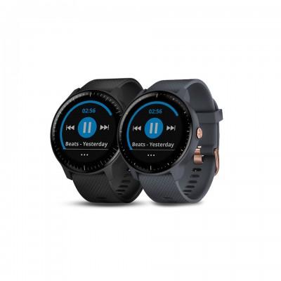 Garmin vívoactive® 3 Music Garnite Blue GPS Smartwatch พร้อมวัดอัตราการเต้นหัวใจ ฟังเพลงได้ในตัว