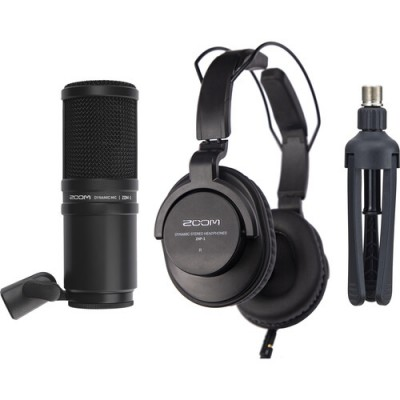 Zoom ZDM-1  Podcast Mic Pack Microphone แพ็คไมค์พร้อมหูฟังและขาตั้ง ประกันศูนย์ไทย