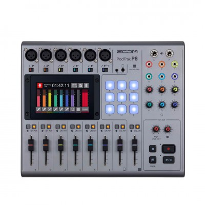 Zoom PodTrak P8 Portable Multitrack Podcast Recorder ประกันศูนย์ไทย