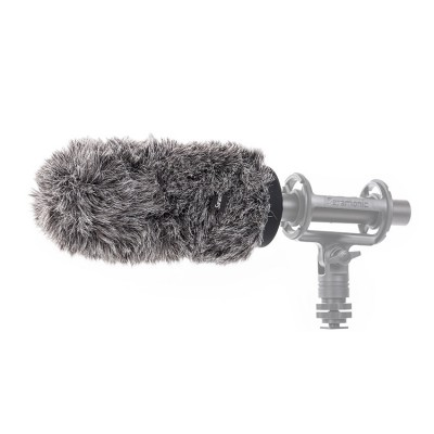 Furry outdoor microphone windscreen muff for SR-TM1