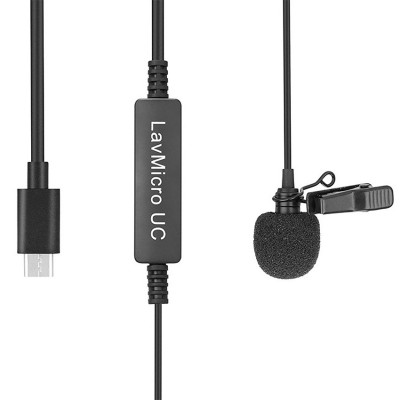 LavMicro-UC Broadcast-Quality Lavalier Omnidirectional Microphone for USB Type-C Devices