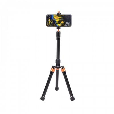 AI Fotto XTA215 ขาตั้งกล้องสำหรับกล้องขนาดเล็ก พร้อมตัวหนีบมือถือ