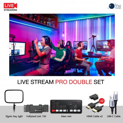 Live Stream Pro Double Set ชุดอุปกรณ์ไลฟ์สตรีม ประกันศูนย์ไทย