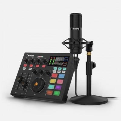 MAONOCASTER AU-AM100 K1 Single Mic Bundle : All-In-One Podcast Production Studio ประกันศูนย์ไทย