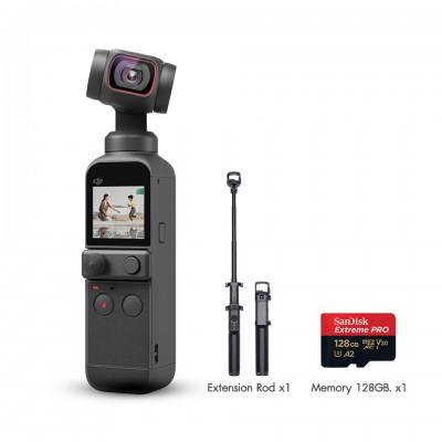 DJI Pocket 2 Single กล้องจิ๋วพร้อมภาพนิ่งคมชัด 64MP ประกันศูนย์ไทย Extension Rod + Mem 128GB