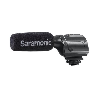 Super-Cardioid Unidirectional Condenser Microphone with Integrated Shockmount, Low-Cut Filter & Battery-Fre