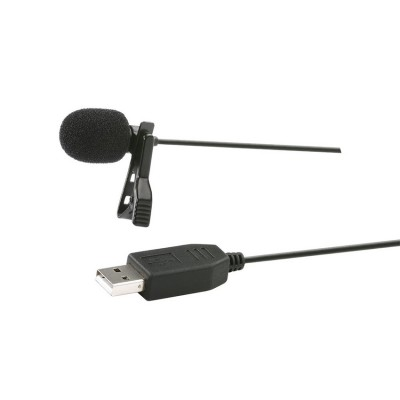 USB Lavalier Clip-on Computer Microphone for PC & Mac
