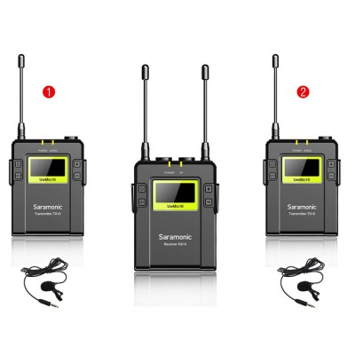 UHF Wireless Microphone Package UwMic10TH-TX10+TX10+RX10