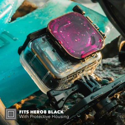 POLARPRO DIVEMASTER HERO8 PROTECTIVE HOUSING Filter 3 แผ่น สำหรับกล้อง GOPRO HERO8 BLACK