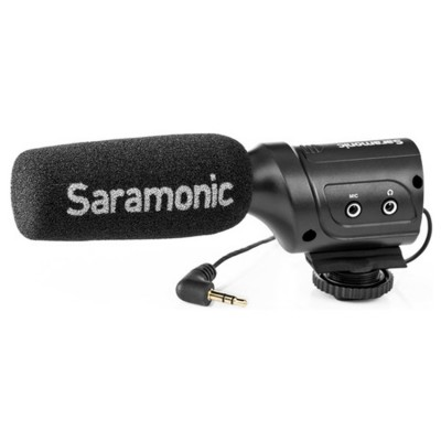 Mini Directional Condenser Microphone with Integrated Shockmount, Low-Cut Filter